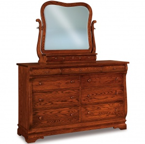 Fontaine Wide Amish Dresser with Mirror Option