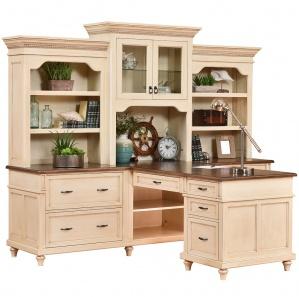 Bridgeport Partner Desk & Optional Hutch