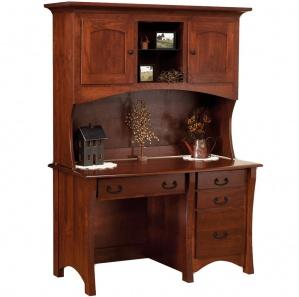 Master Single Pedestal Amish Desk & Hutch Option