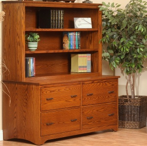 Prairie Mission Lateral File Credenza With Hutch
