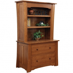 Jamestown Lateral File with Amish Bookcase Option
