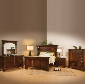 Hamilton Court Amish Bedroom Furniture Set