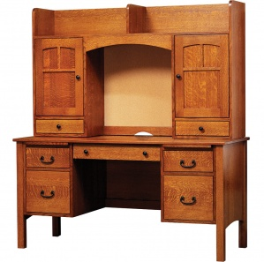 """Rivertowne 60"""" Amish Desk with 4 Drawers & Optional Hutch"""