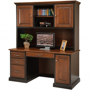 Harrington Double Pedestal Computer Desk & Hutch