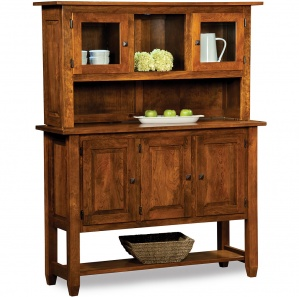 Pershing Amish Buffet with Hutch Option