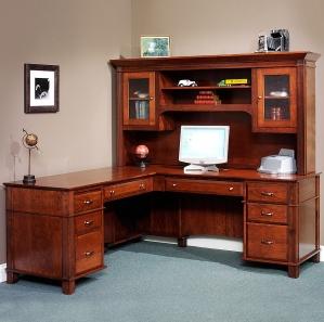 Arlington Manor Executive Corner Computer Desk & Optional Hutch