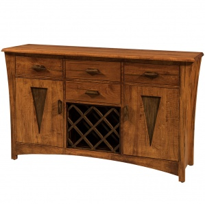 Delphi Amish Sideboard with Wine Rack