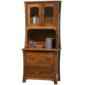 Woodbury Lateral File Cabinet & Optional Hutch