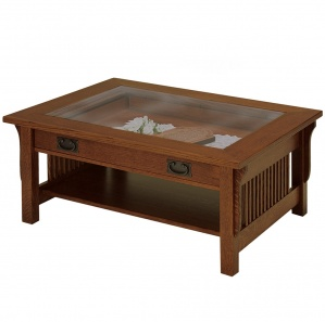 River Road Glass Top Coffee Table