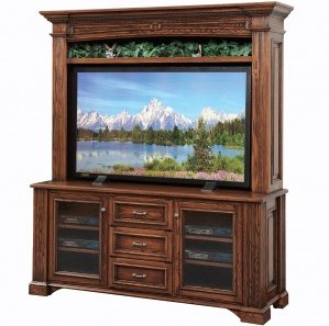 Lincoln TV Console with Optional Hutch