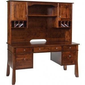 Craftsman Computer Desk With Optional 2 Door Hutch