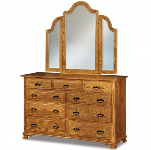 Heritage Hill Large Amish Dresser with Mirror Option