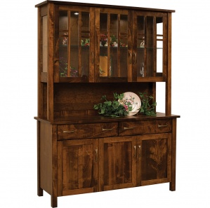 Acadia Amish Buffet & Optional Hutch