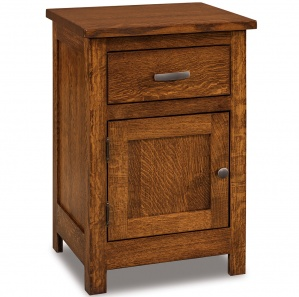 Milan Mission 1 Drawer, 1 Door Amish Nightstand