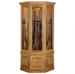 Masterson Revolving 14 Gun Corner Cabinet