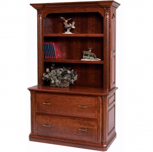 Lexington Lateral File with Amish Bookshelf Option