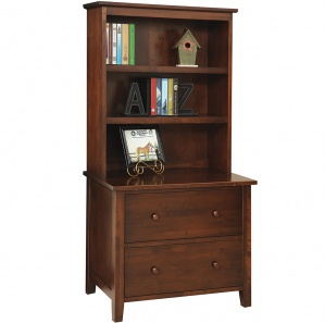 Manhattan Lateral File wih Amish Hutch Option