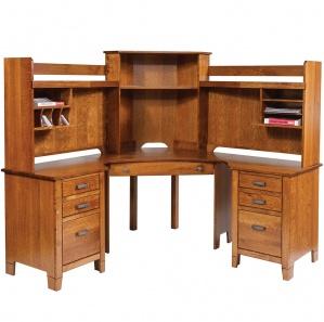Jacobsville Compact Corner Desk & Optional Hutch