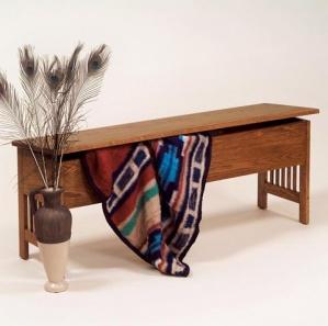 Arts & Crafts Mission Storage Bench