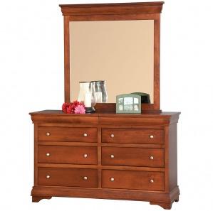 Michiana Amish Dresser with Mirror Option