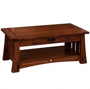 Mesa Wood Inlaid Coffee Table