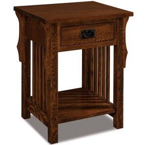 Stick Mission 1 Drawer Open Amish Nightstand