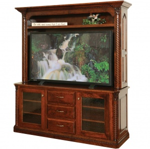 Lexington Amish TV Stand with Hutch Option
