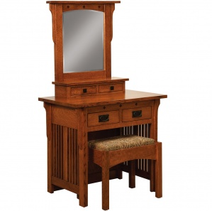 College Hill Dressing Table & Amish Bench