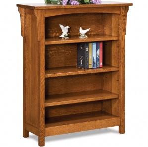 Bridger Mission 3 Shelf Bookcase