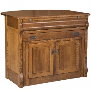 Frontier Amish Kitchen Island with Pull-out Table