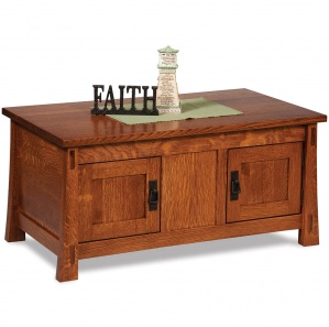 Mariposa Amish Coffee Table Cabinet with Lift Top Option