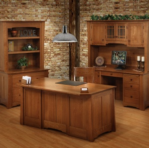 Jamestown Executive Amish Office Furniture Set