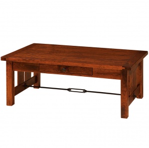 Jordan Coffee Table with Plank Top