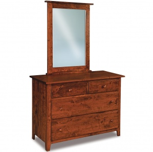 Eagle Hill 4 Drawer Amish Dresser with Mirror Option