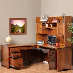 Rivertowne Executive Corner Computer Desk & Optional Hutch