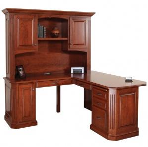 Buckingham Corner Desk with Optional Hutch
