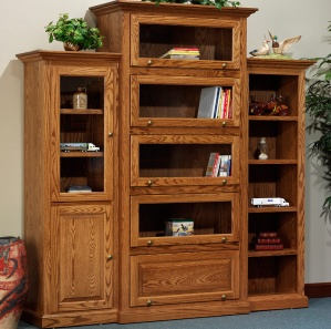 Highland Barrister Amish Bookcase Wall Unit