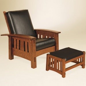 McCoy Morris Amish Chair & Optional Footstool