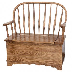 Bent Feather Bow Amish Bench
