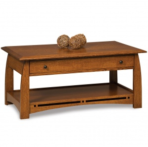 Boulder Creek Amish Coffee Table with Lift Top Option