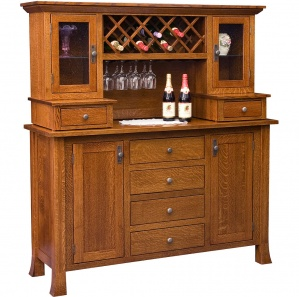 Brookhurst Buffet & Optional Wine Rack Hutch