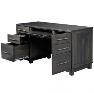 Urban Computer Desk with Amish Hutch Option