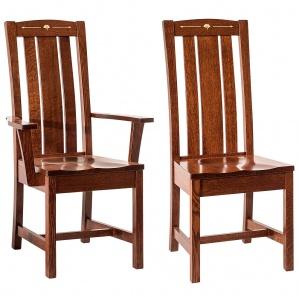 Mesa Wood Inlaid Amish Dining Chairs