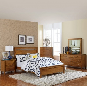 Medina Contemporary Amish Bedroom Furniture Set