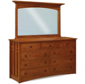 Kascade Amish Dresser with Optional Mirror