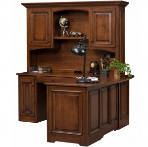Liberty Corner Amish Desk with Hutch Option