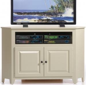 Linden Raised Panel Corner TV Cabinet