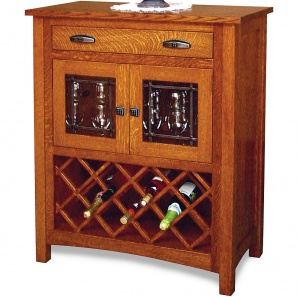 Berwyn Avenue Amish Wine Cabinet