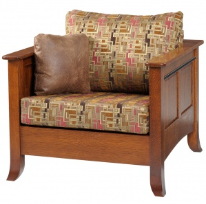 Edenton Amish Chair with Ottoman Option