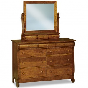 Olde Sleigh 9 Drawer Mule Dresser with Optional Mirror